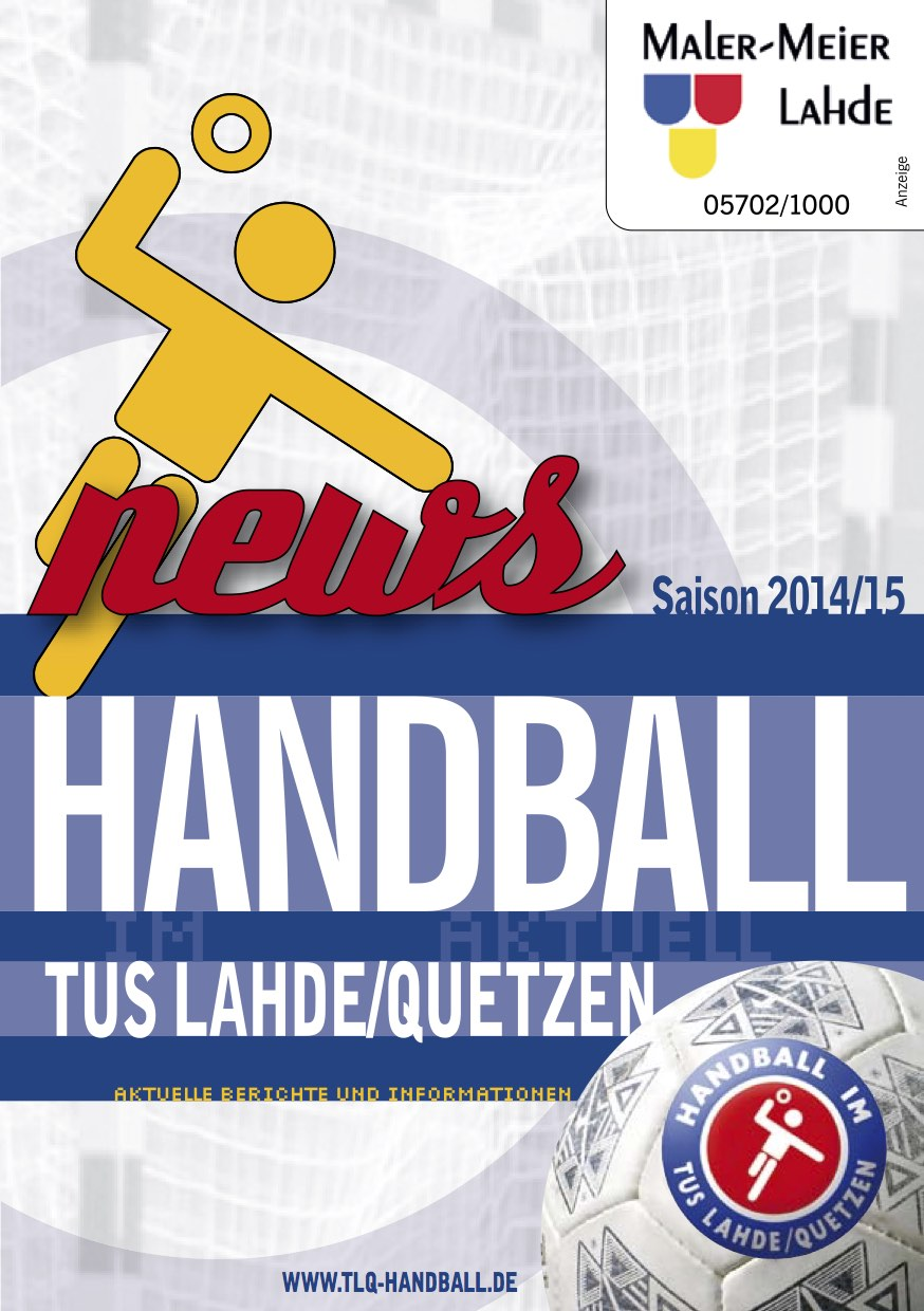 TuS Aktuell Cover 14/15